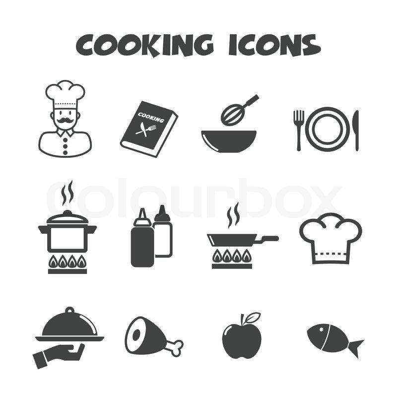 Kochen Symbole | Vektorgrafik | Colourbox