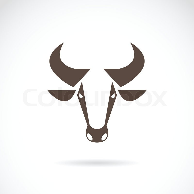 Vector Image Of An Cow Head On White Background Stock Vector