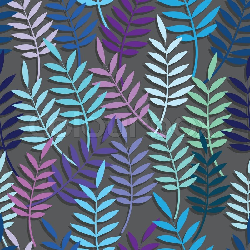 Leaf Floral Abstract Seamless Vector Background Pattern