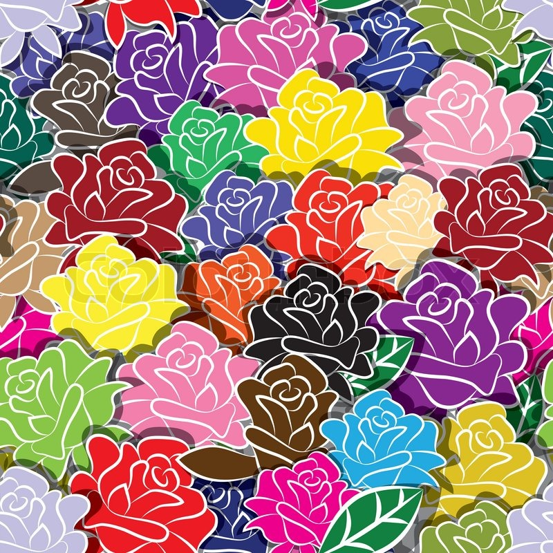Seamless Flower Background With ...
