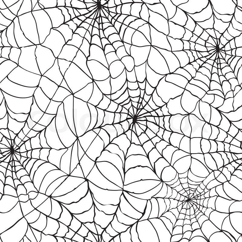 Spider Web nahtlos Halloween hintergrund textur Spinnennetz Gossamer ...