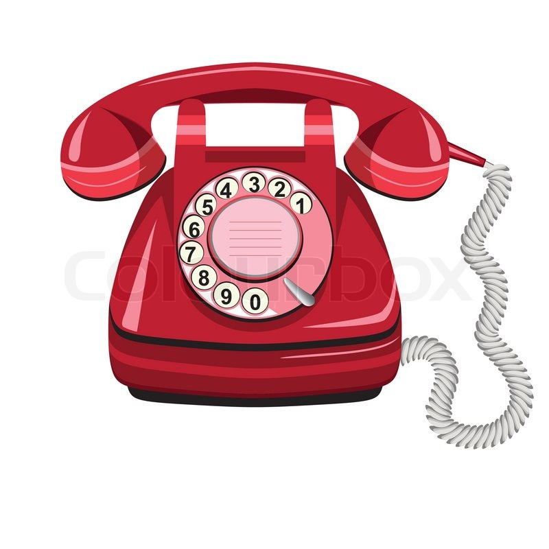 Old Fashioned Telephone Drawing Colour