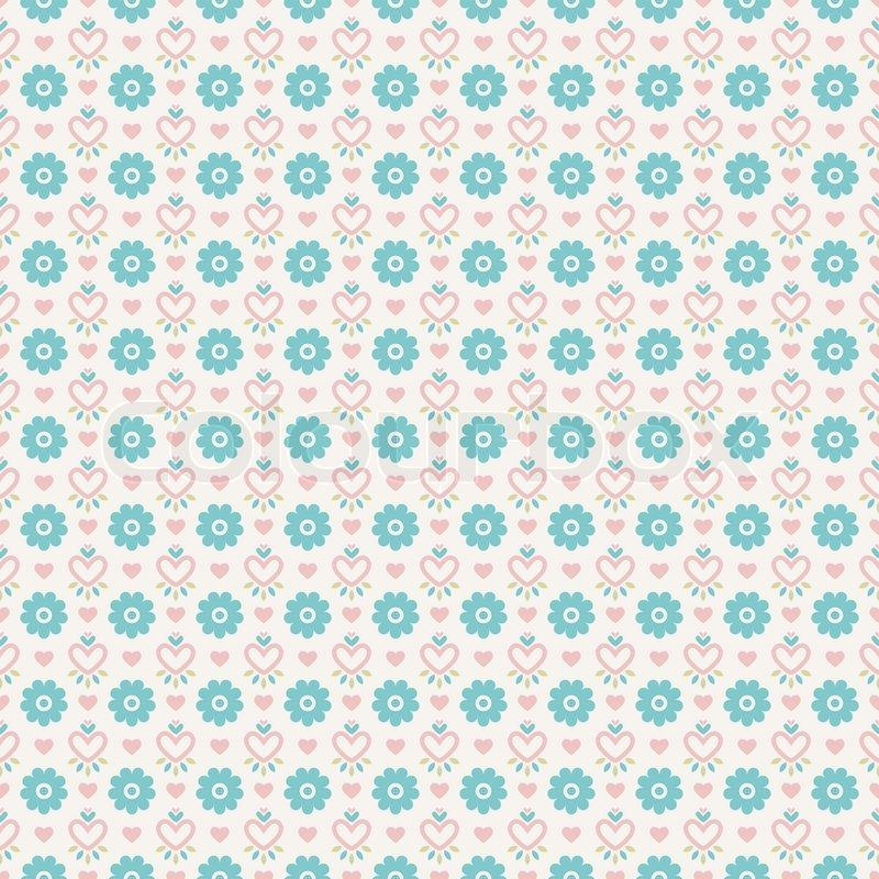 Pastel loving wedding vector seamless pattern (tiling). Fond pink ...