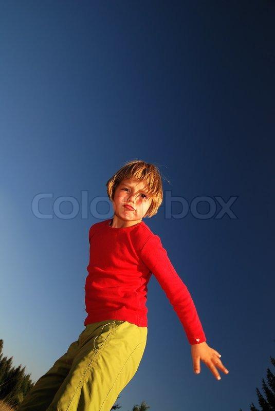 Angry girl, stock photo