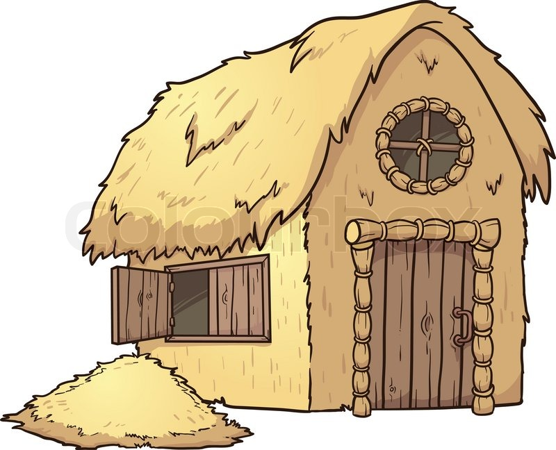... For Straw House Clipart... Three Little Pigs Clipart Black And White