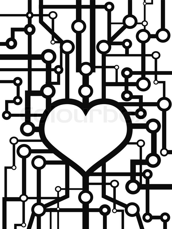 the background of heart circuit for design