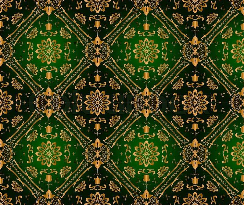Retro grün Tapete. nahtlose  Vektorgrafik  Colourbox