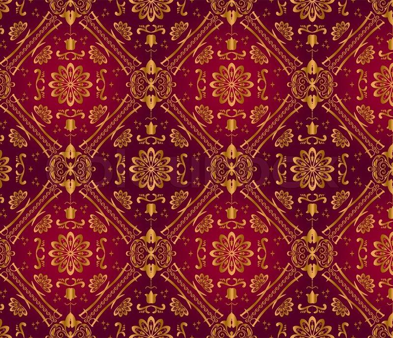 retro dunkel rote tapete nahtlose stock vektor colourbox. Black Bedroom Furniture Sets. Home Design Ideas
