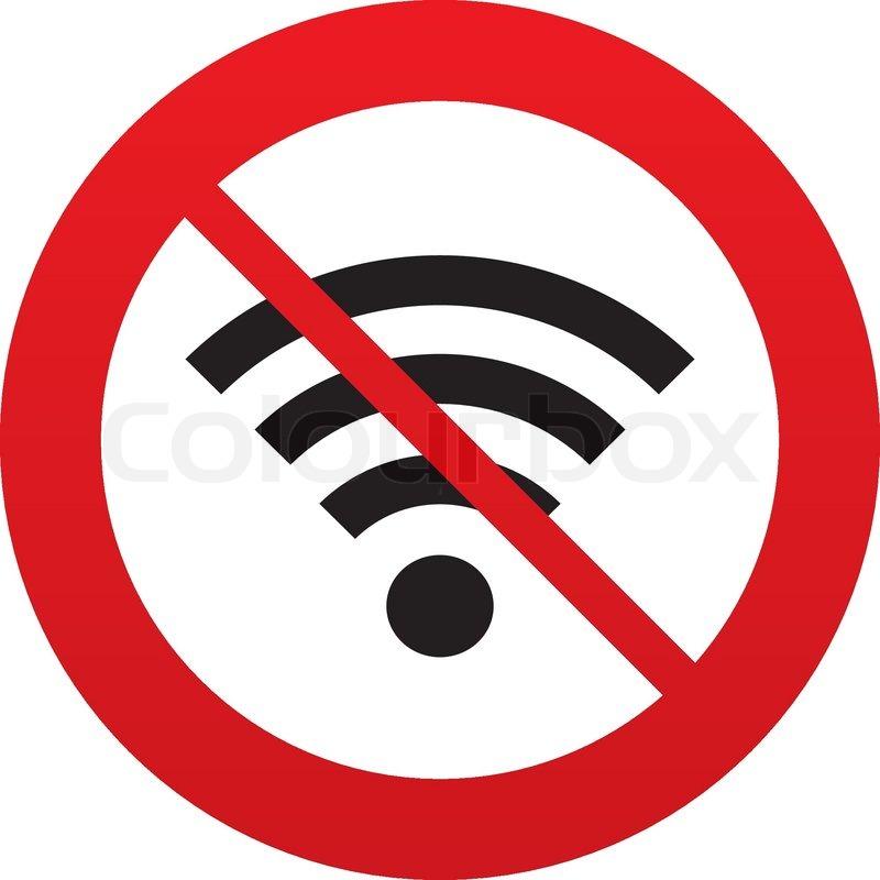 Kein Wifi Zeichen. Wi-Fi-Symbol. Wireless-Netzwerk.   Vektorgrafik ...