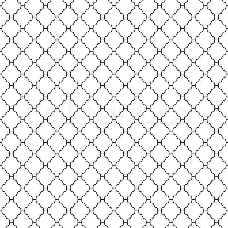 Abstract Seamless Ornamental Lines Monochrome Pattern Vector Amazing Line Pattern Vector