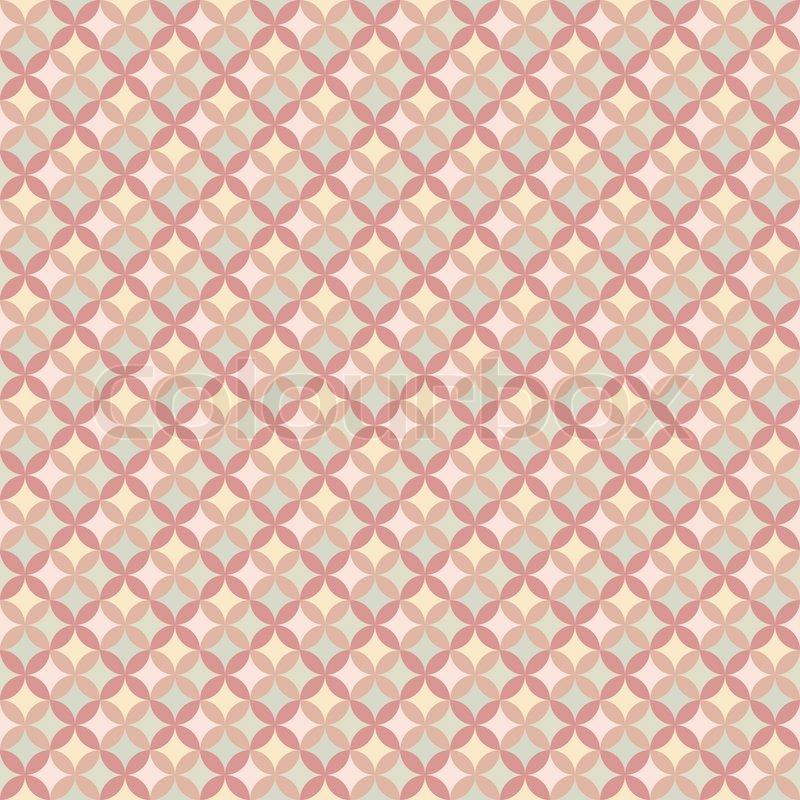 Tapeten Geometrische Muster : Abstrakte geometrische, florale Muster-Tapeten. Vektor-illustration