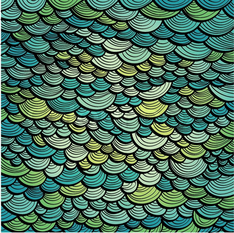 Abstract green marine background imitating fish scales for Get fish scale