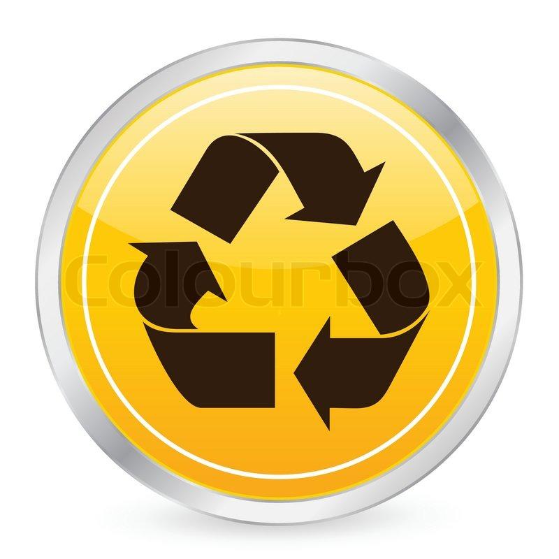 Recycle Symbol Circle Recycle Symbol Yellow Circle