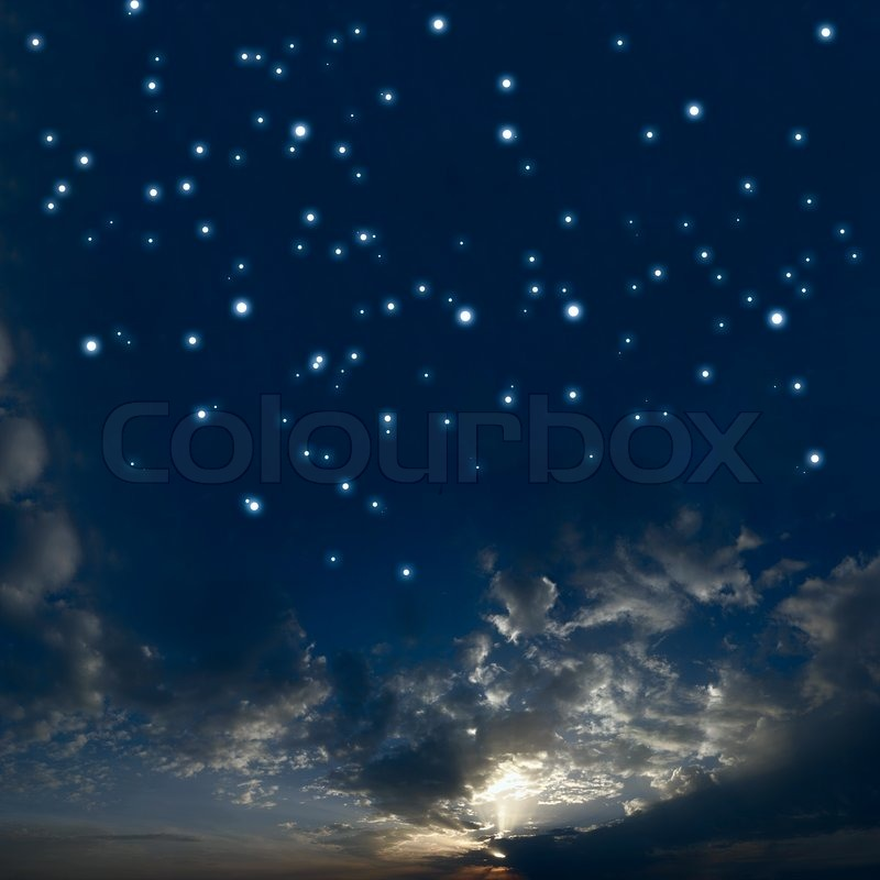 Beautiful Night Sky With A Lot Of Stars Stock Photo