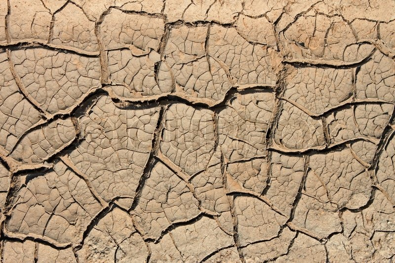 Stock image of 'Many cracks in the dried soil in arid season as a texture '