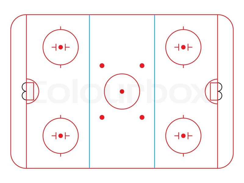 Ice Hockey Rink Diagram Vector Illustration Stock Vector Colourbox