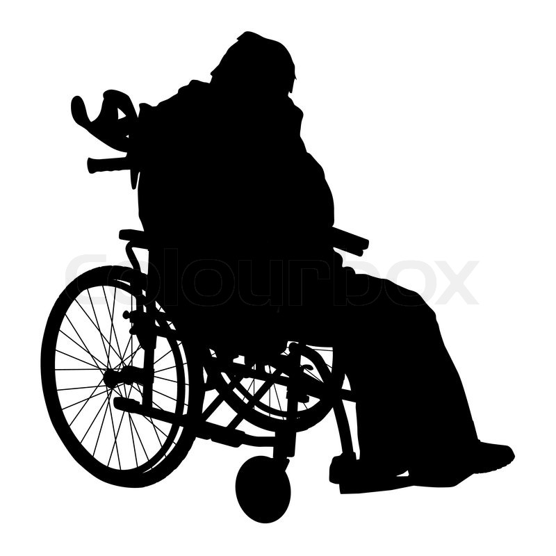 One handicapped man in wheelchair ... | Stock vector ...