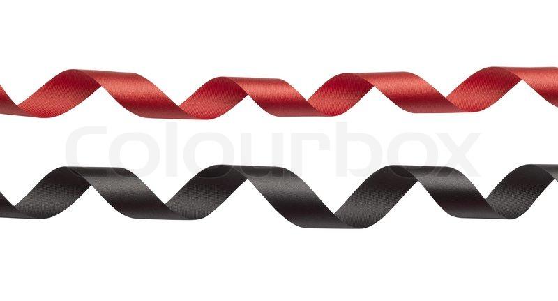 Rote Sitzsaecke In Schwarz Weissem : Rote und schwarze band auf wei?em hintergrund stockfoto