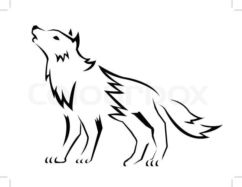Wolf-Vektor | Vektorgrafik | Colourbox