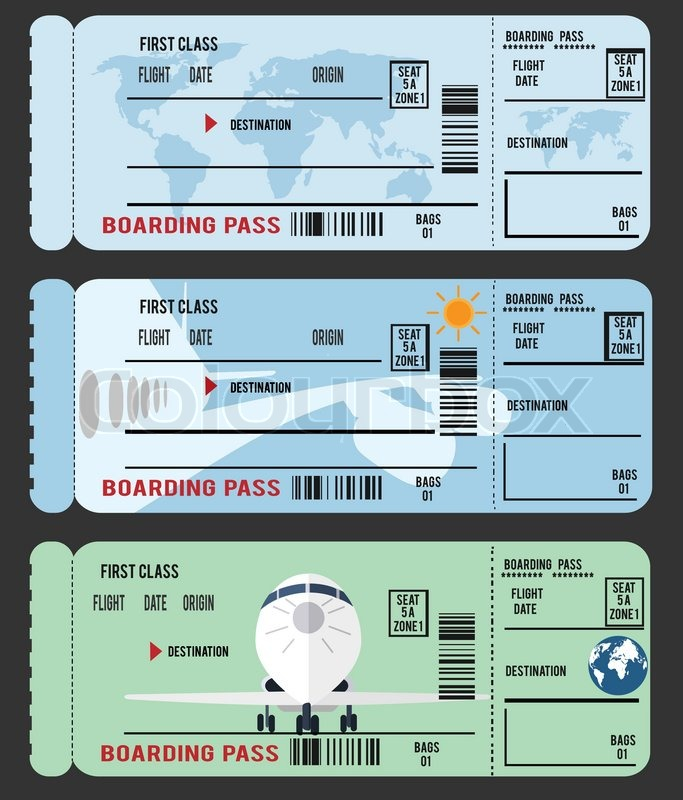 Boarding Pass (Ticket) ,Vector , Eps 10 | Stock Vector | Colourbox