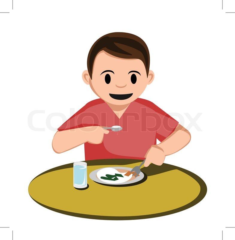 clipart girl eating breakfast - photo #47