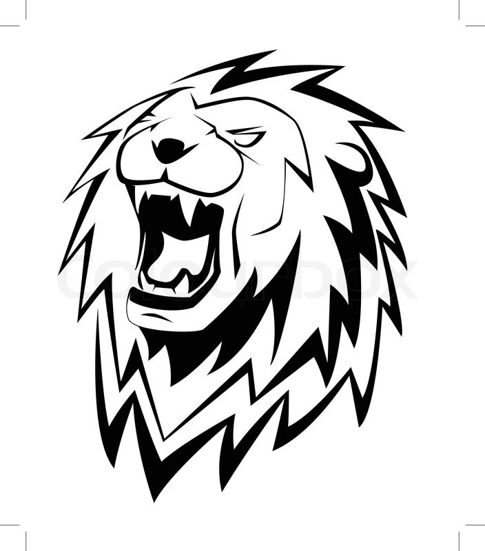 lion roar | stock vector | colourbox