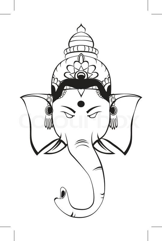 Hindu God Ganesha Symbol Stock Vector Colourbox