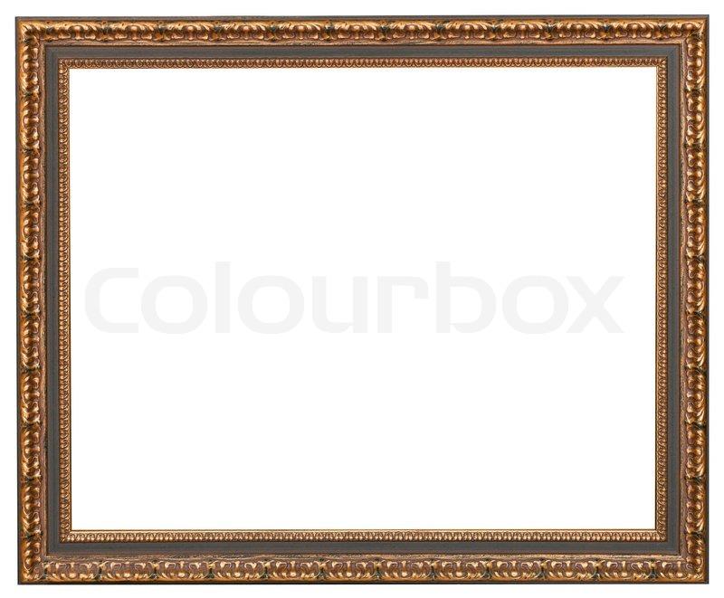 Klassische Bilderrahmen mit ausgeschnitten Leinwand | Stockfoto ...