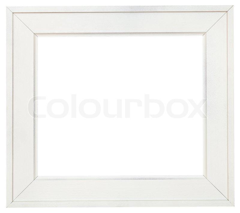 Große weiße Holz-Bilderrahmen mit ausgeschnitten Leinwand ...