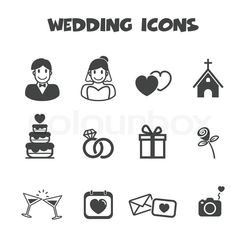 Hochzeit Symbole Vektorgrafik Colourbox