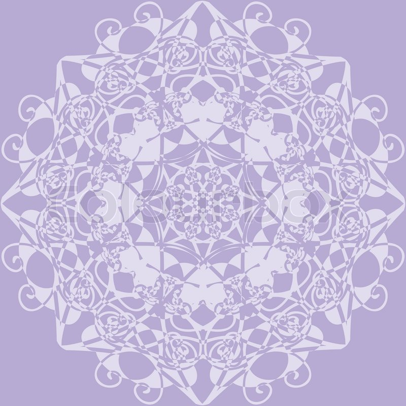 kaleidoscope rosette lilac color use as wallpaper pattern fill or