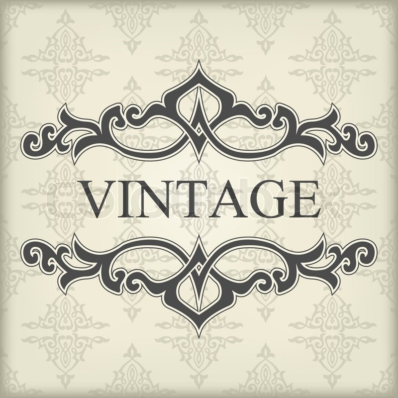 the vector image of vintage template with floral frame stock