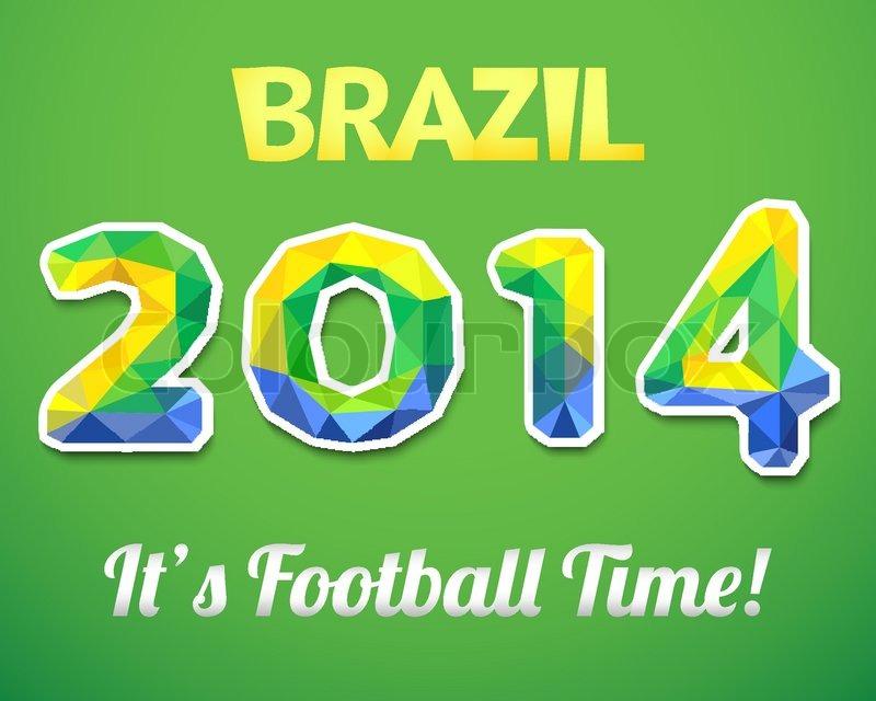brazilian 2014 world cup. vector illustration for sport event, Presentation templates