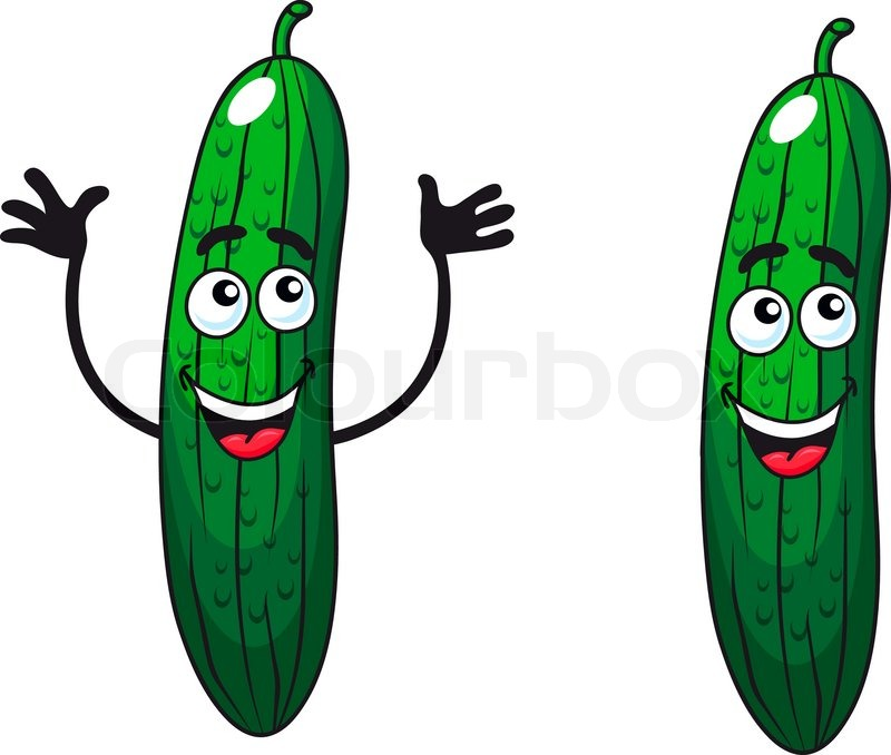 Cartoon vector illustration of a two comic happy green ...