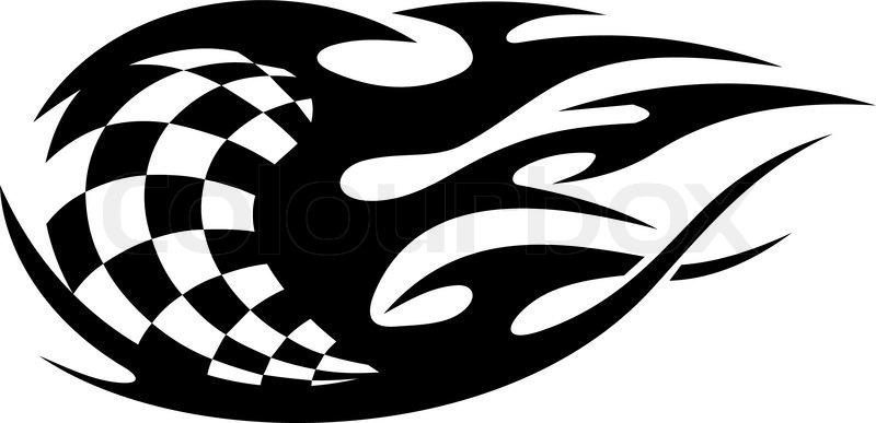 Schwarz Weiß Karierte Flagge