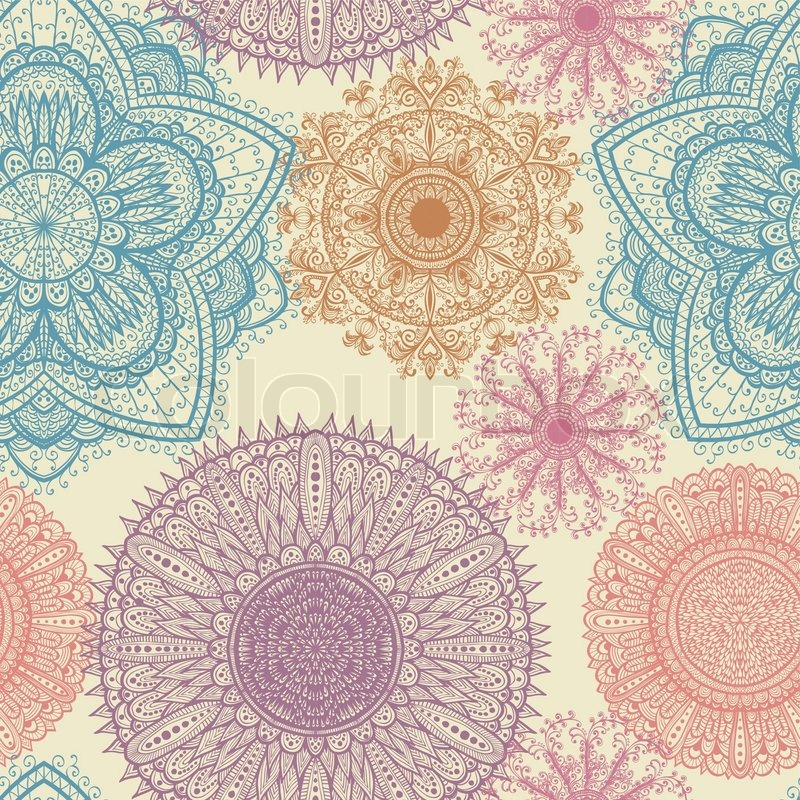 Seamless Elegant Vintage Pattern With Stock Vector
