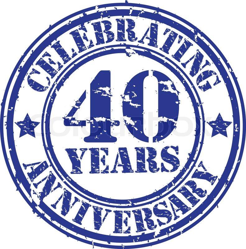 Feiern 40 Jahre Jubiläum Grunge Vektorgrafik Colourbox