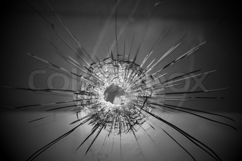 Bullet hole , stock photo