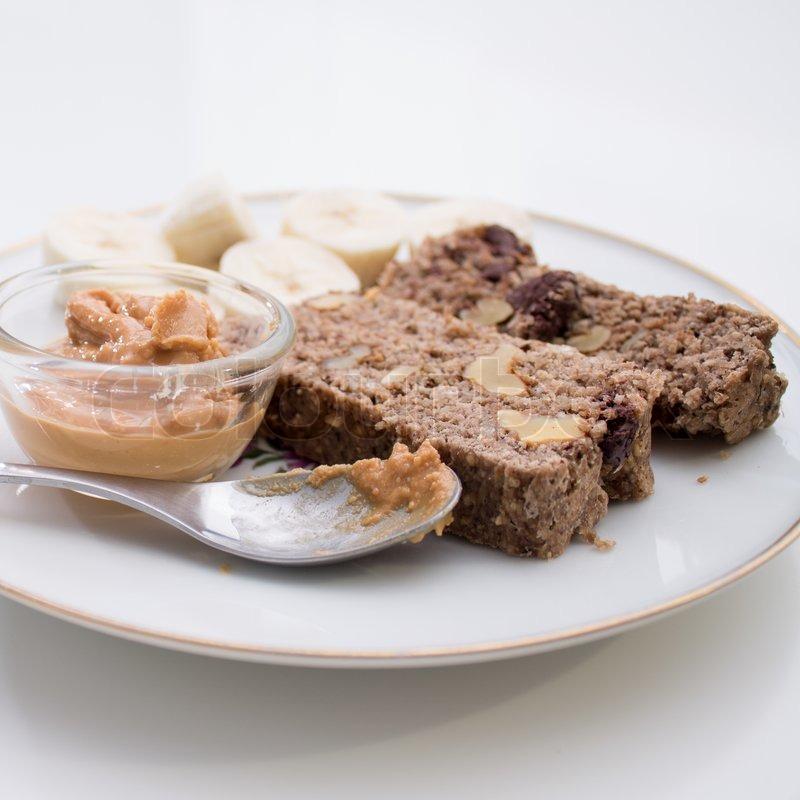 Vegane Schoko Bananen Kuchen Und Stockfoto Colourbox