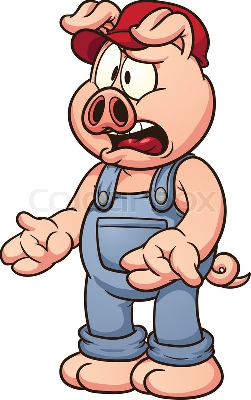 Animated pigs standing - photo#19