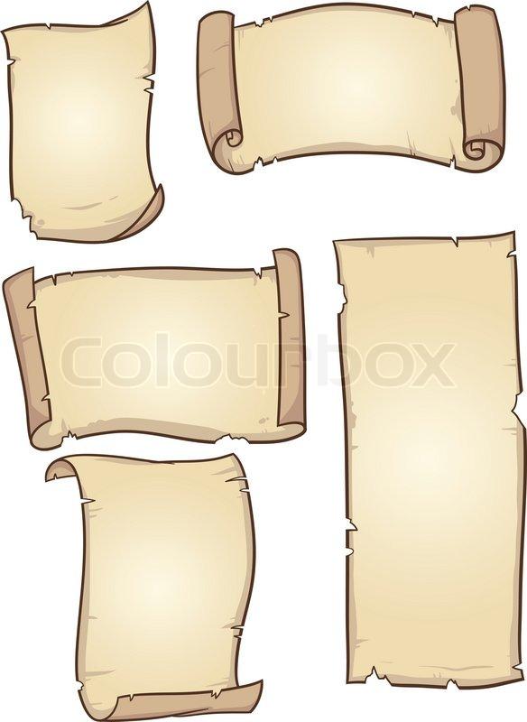 old cartoon paper vector clip art illustration with simple rh colourbox com cartoon paper files cartoon paperwork