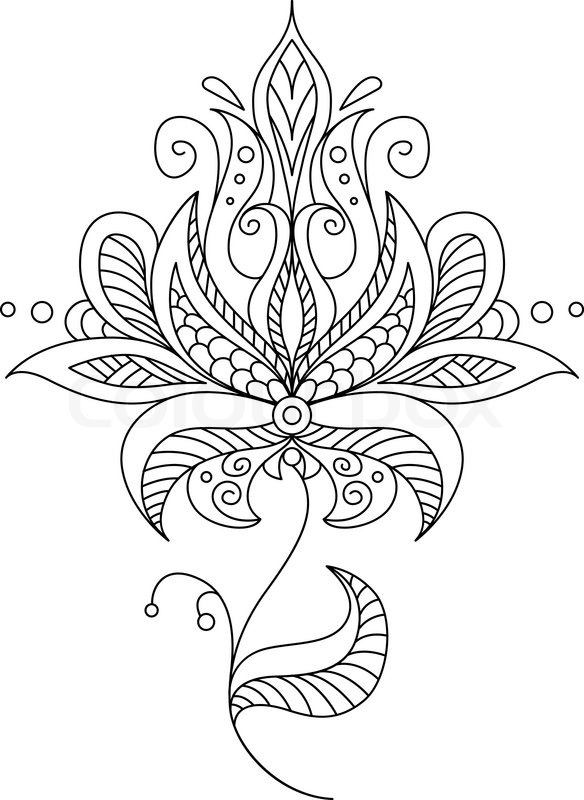 Paisley Patterns Border Coloring Pages