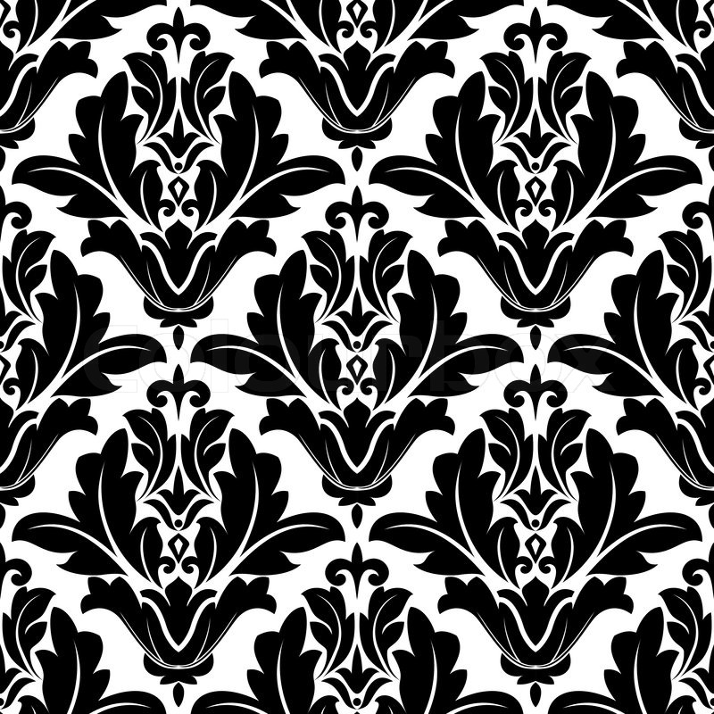 Bold Black And White Arabesque Design Stock Vector Colourbox