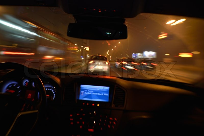 View From Inside Of High Sd Car In The T Street Motion Blur Stock Photo Colourbox