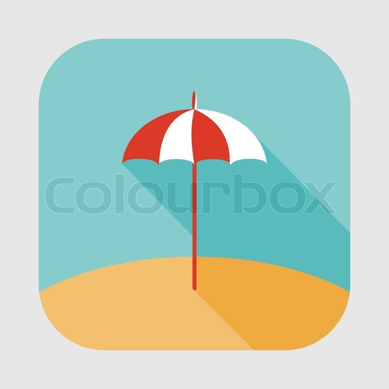 Sonnenschirm grafik  Sonnenschirm-Symbol   Vektorgrafik   Colourbox