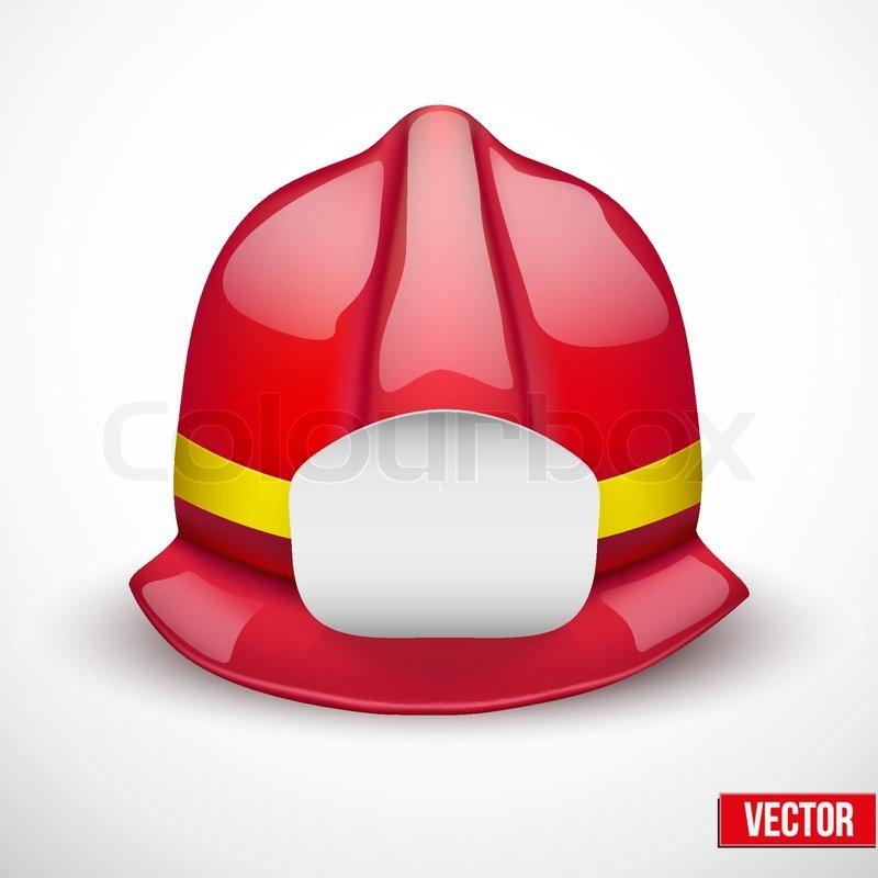 red firefighter helmet vector illustration space for badge or emblem isolated and editable. Black Bedroom Furniture Sets. Home Design Ideas