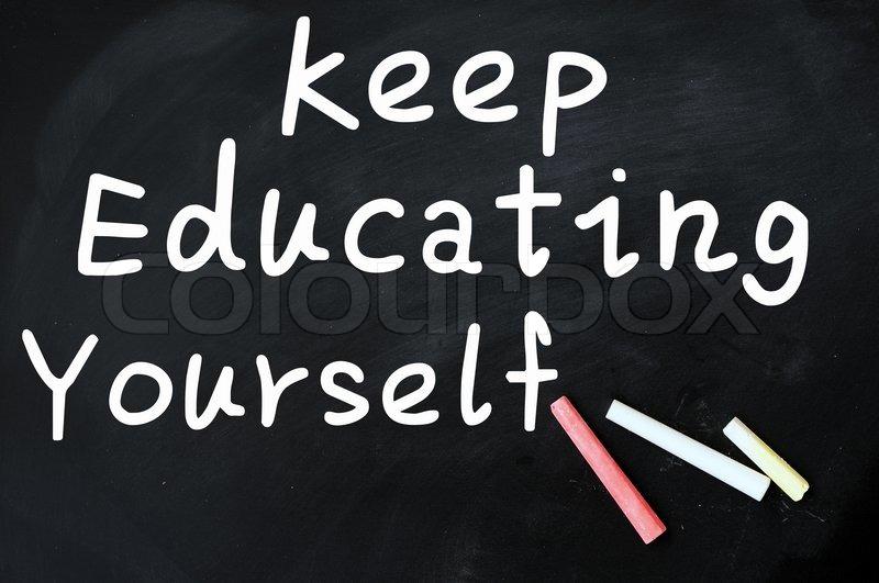 school blackboard or chalkboard blank with chalk stock photo