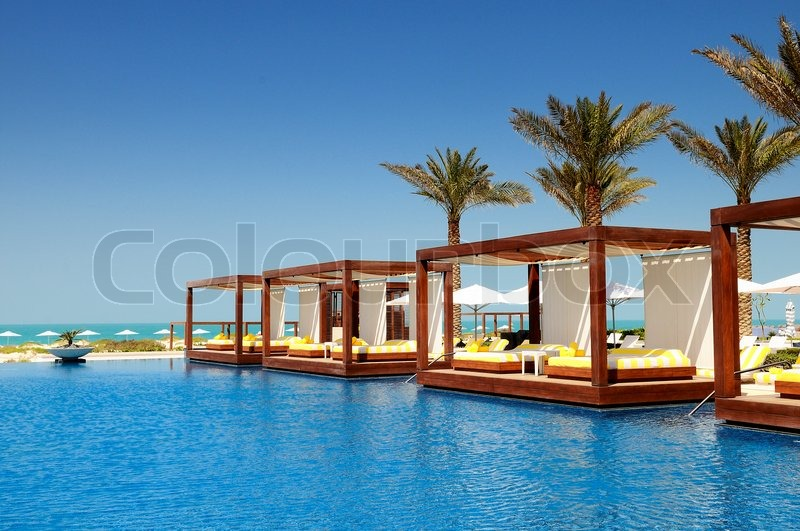 Luxury place resort and spa for vacations, stock photo