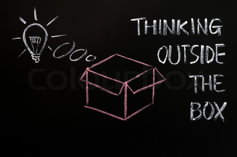 Concept Of Quot Think Outside The Box Quot Stock Photo