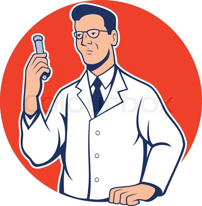 Wissenschaftler lab forscher chemiker cartoon